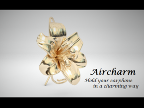 AirCharm Lily Flower - Right in 14k Gold Plated Brass