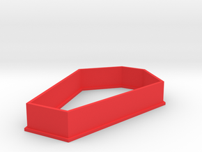 Coffin Cookie Cutter in Red Strong & Flexible Polished