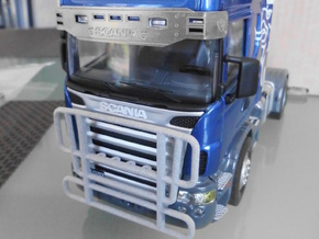 Scania Bull Bar - Type C in White Natural Versatile Plastic
