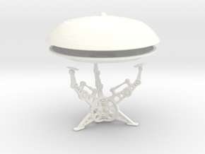 (2 & 1/2 inch diameter) Jupiter 7 Model with stand in White Strong & Flexible Polished