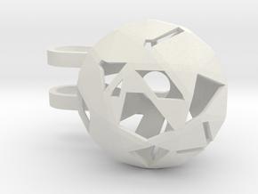 Diamond Phone Lamp - M in White Natural Versatile Plastic