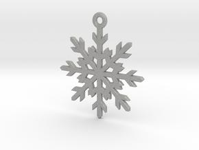 Snowflake Pendant in Raw Aluminum