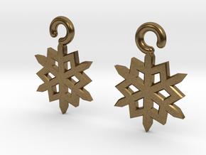 Snowflake Earrings in Natural Bronze