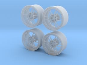 "Enkei RPF1 17"" 1/24 pack Fujimi spindle in Smoothest Fine Detail Plastic"