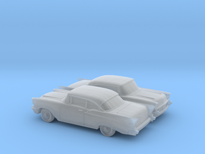 1/160 2X 1957 Chevrolet One Fifty Coupe in Smooth Fine Detail Plastic