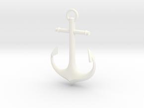 Anchor in White Processed Versatile Plastic