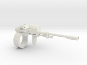 1:18 rail gun in White Natural Versatile Plastic