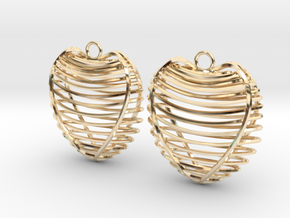 Heart cage in 14k Gold Plated Brass