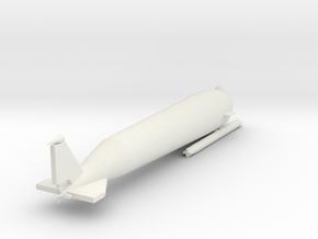 1/144 Scale German SCHWERTWAL II Mini U-Boat in White Natural Versatile Plastic