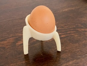 TRIPOD - Egg Cup  in White Natural Versatile Plastic
