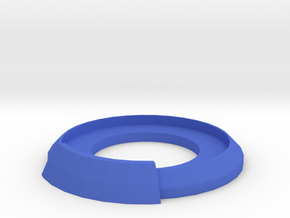 Unit Base for 30mm-wide Group Game Pieces in Blue Processed Versatile Plastic