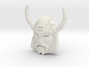 Unicron Face (Titans Return) in White Natural Versatile Plastic