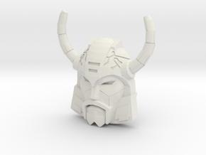 Unicron Face (Titans Return) in White Natural Versatile Plastic