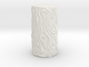 Ornate Cup in White Strong & Flexible