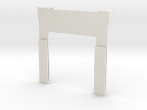 IPhone 7 Holder With Clips in White Natural Versatile Plastic