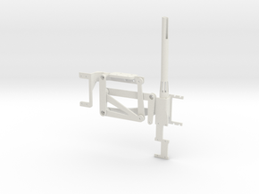 Bell Crank Table Shifter in White Natural Versatile Plastic