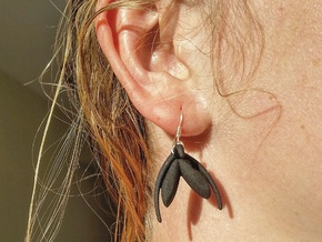 Clitoris Earrings in Black Natural Versatile Plastic