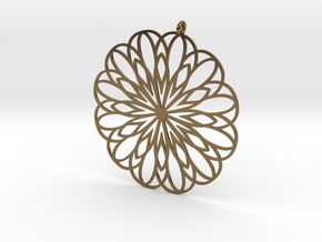 Rose Window Inspired Pendant in Polished Bronze