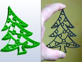 Christmas Tree Cookie Cutter (3 layers, 10 mm) in White Natural Versatile Plastic