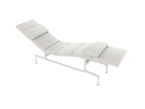 Eames Chaise - Charles & Ray Eames in White Strong & Flexible: 1:24