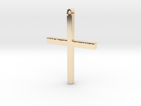 Christian Cross in 14K Yellow Gold