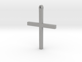 Christian Cross in Aluminum
