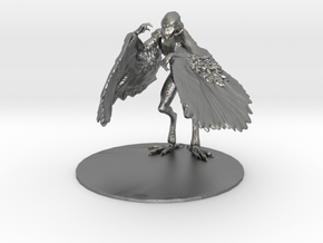 Aarakocra Miniature in Natural Silver: 1:60.96