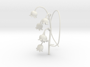 Lily Valley Aircharm - R in White Natural Versatile Plastic