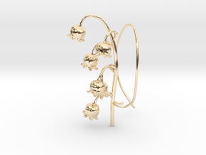 Lily Valley Aircharm - R in 14k Gold Plated Brass