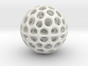 Radiolarian Sphere 3 in White Strong & Flexible