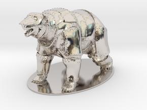 Panserbjørne Miniature in Rhodium Plated Brass: 1:60.96
