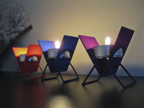 Tealight Easel in Red Processed Versatile Plastic