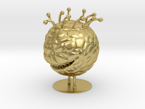 Beholder Miniature in Natural Brass: 1:60.96