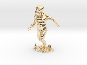 Crabman Miniature in 14k Gold Plated Brass: 1:60.96