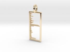 Mass Spectrum Pendant - Science Jewelry in 14k Gold Plated Brass