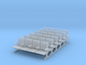 Modern Seat X 6 - OO Scale in Smooth Fine Detail Plastic