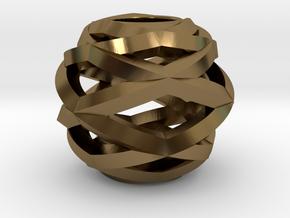Geometric Charm (for Pandora bracelet) in Polished Bronze