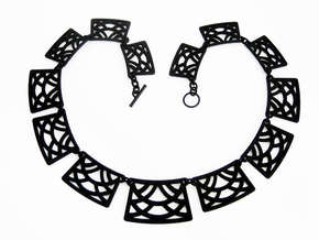 Art Deco Statement Necklace in Black Natural Versatile Plastic
