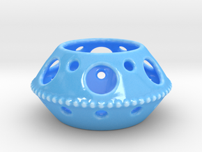 tea light in Gloss Blue Porcelain