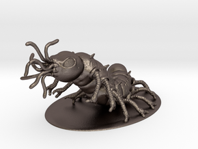 Carrion Crawler Miniature in Polished Bronzed Silver Steel: 1:60.96