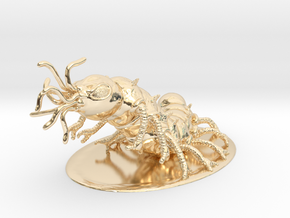 Carrion Crawler Miniature in 14K Yellow Gold: 1:60.96