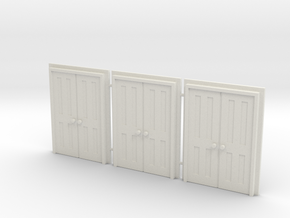 Door Type 9 - 660D X 2000 X 3 in White Natural Versatile Plastic: 1:76
