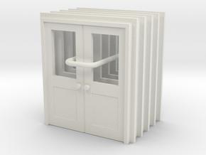 Door Type 10 - 810D X 2000 X 5 - HO Scale in White Natural Versatile Plastic: 1:87