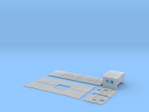 SOO 56-145 Caboose Body Kit, Plated Side Windows in Frosted Ultra Detail