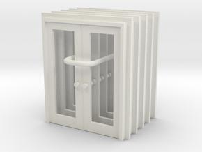 Door Type 13 - 760D X 2000 X 5 in White Natural Versatile Plastic: 1:87