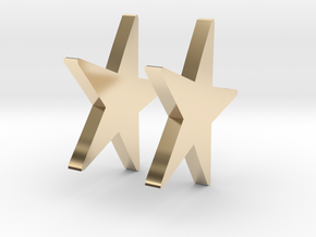 Star Stud Earring in 14k Gold Plated Brass