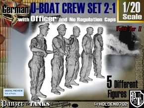1-20 German U-Boot Set 2-1 in White Strong & Flexible