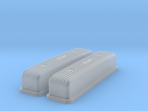 1/24 Buick Nailhead Weiand Valve Covers in Smooth Fine Detail Plastic