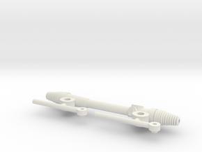 Rack & pinion 1/12 in White Natural Versatile Plastic