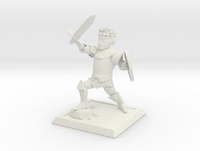 Cartoon fantasy knight in White Natural Versatile Plastic